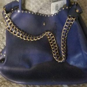 Bright Azure;lilac purple, tote bag, handbag, satc